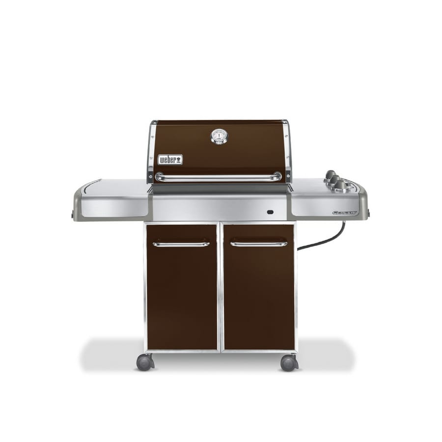 weber genesis e 310 3 burner espresso brown gas grill at. Black Bedroom Furniture Sets. Home Design Ideas
