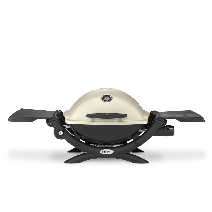 Weber Q 1200 Titanium 8,500-BTU 189-sq in Portable Gas Grill