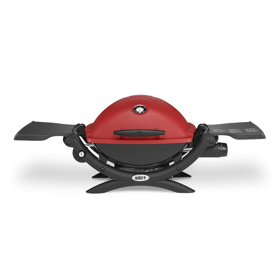 Weber Q 1200 Red 8,500-BTU 189-sq in Portable Gas Grill