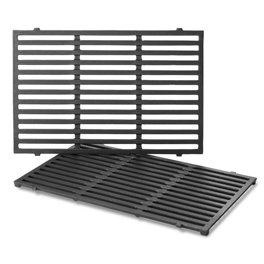 Weber 2-Pack Rectangle Porcelain-Coated Cast Iron Cooking Grates