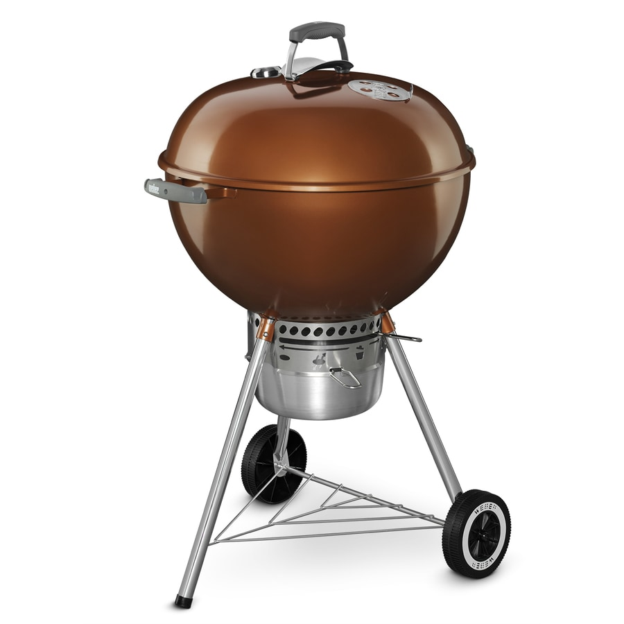 Shop Weber Original Kettle Premium 22 In Copper Porcelain