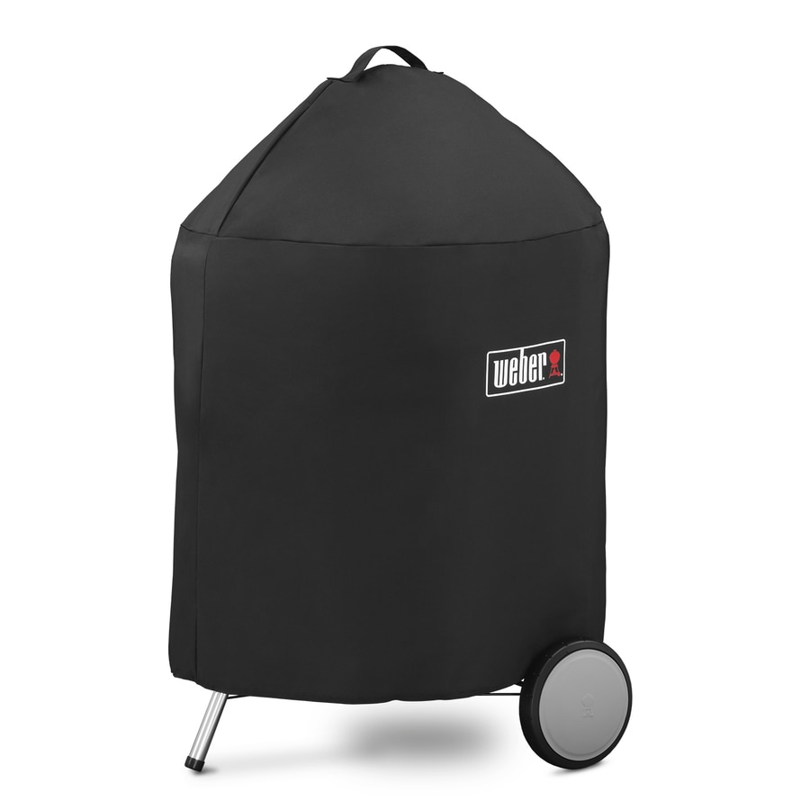 Weber 25-in x 35-in Black Polyester Charcoal Grill Cover