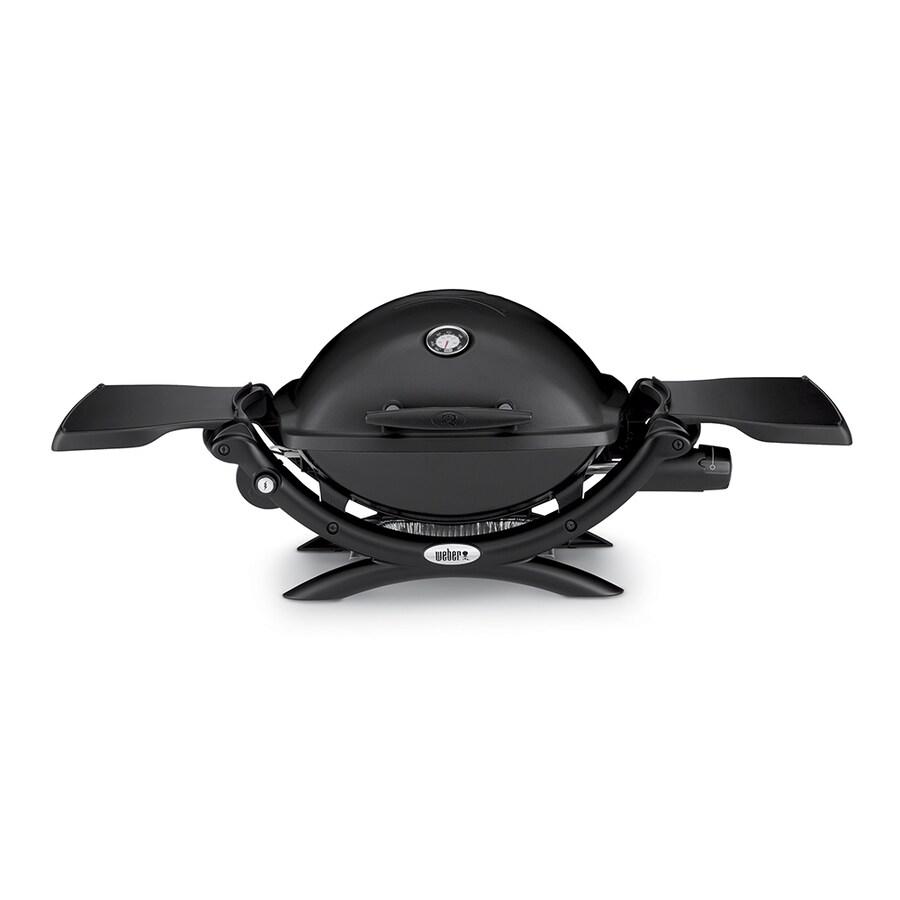 Weber Q 1200 Black Cast Aluminum 8,500-BTU 189-sq in Portable Gas Grill