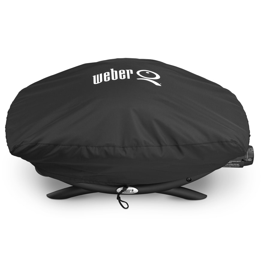 Weber 18.9-in x 12.6-in Black Polyester Gas Grill Cover Fits Models Weber Q2000/200 Series