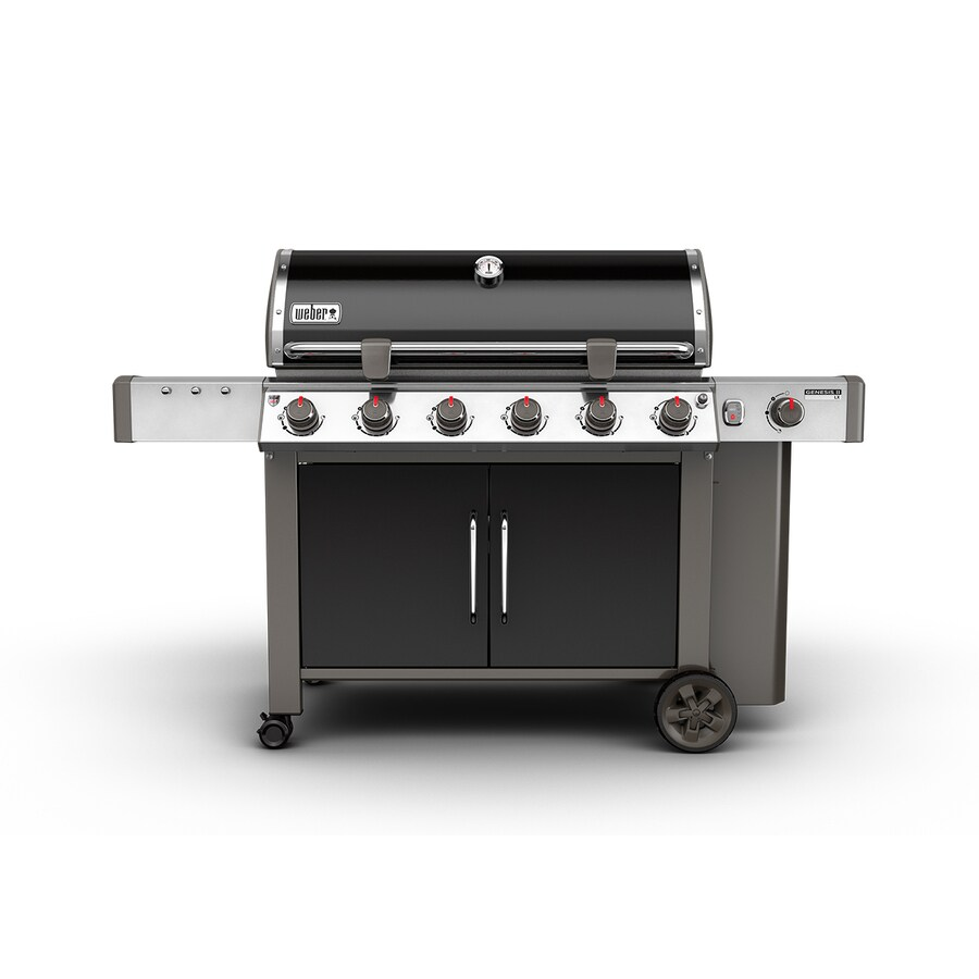 shop weber genesis ii lx e 640 black 6 burner liquid propane gas grill with 1 side burner at. Black Bedroom Furniture Sets. Home Design Ideas
