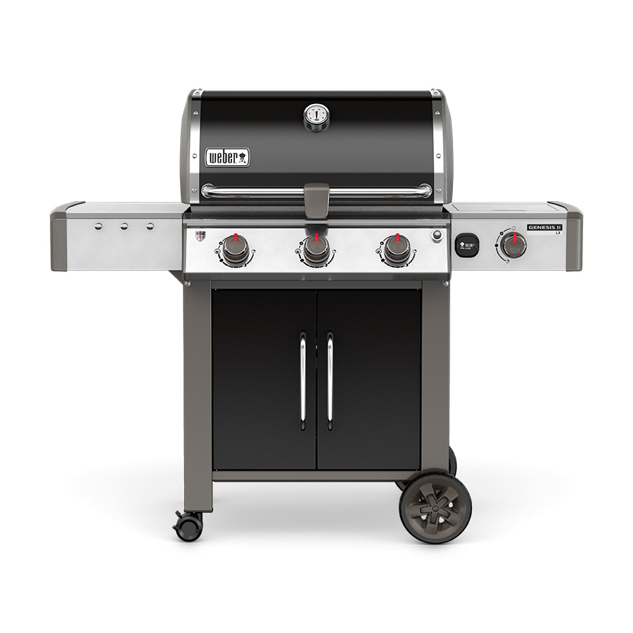 Weber Genesis II LX E-340 Black 3-Burner Natural Grill with 1 Side Burner