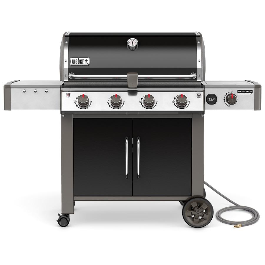 Weber Genesis II LX Black 4-Burner Natural Gas Grill with 1 Side Burner