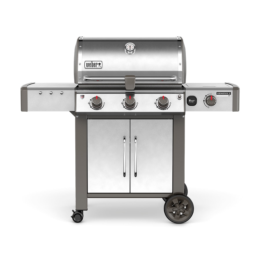 Weber Genesis II LX E-340 Stainless Steel 3-Burner Natural Grill with 1 Side Burner