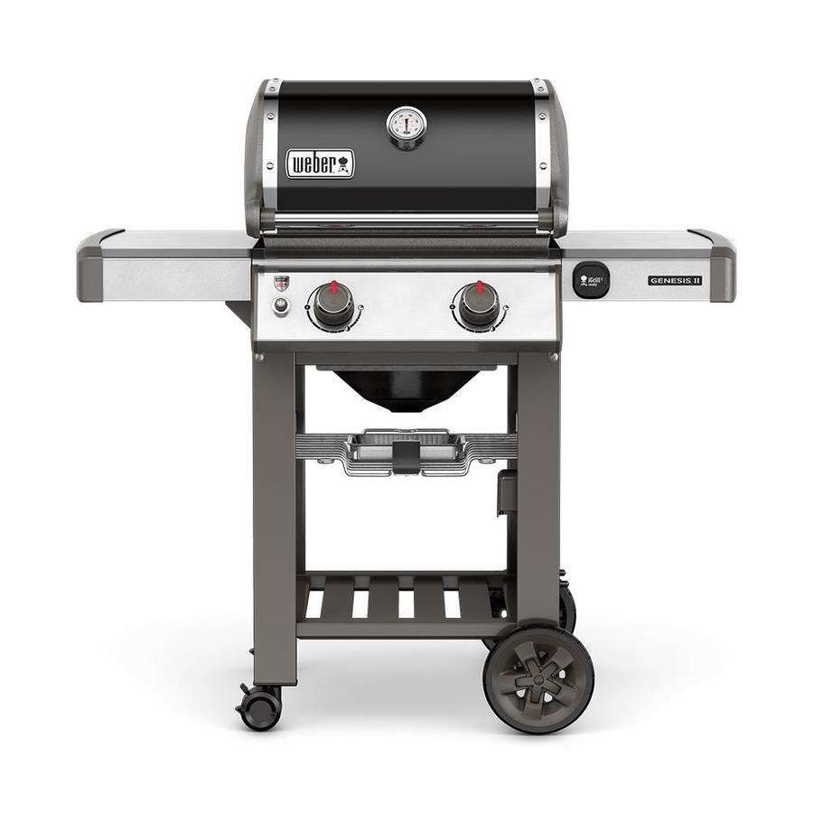 Weber Genesis Ii E 210 Black 2 Burner Natural Gas Grill At