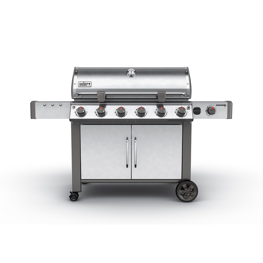Weber Genesis II LX S-640 Stainless Steel 6-Burner Natural Gas Grill with 1-Side Burner