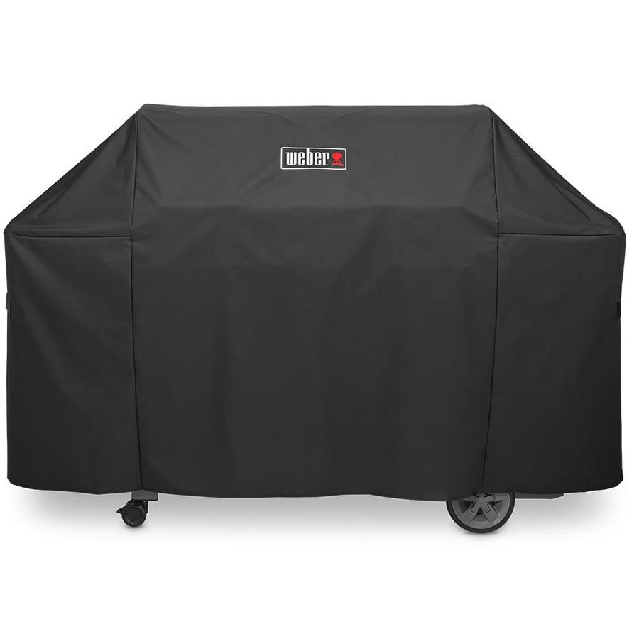 Weber 44.5-in x 71-in Black Polyester Gas Grill Cover