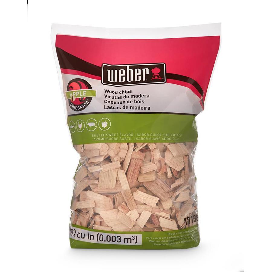 Shop weber lb apple wood chips at lowes