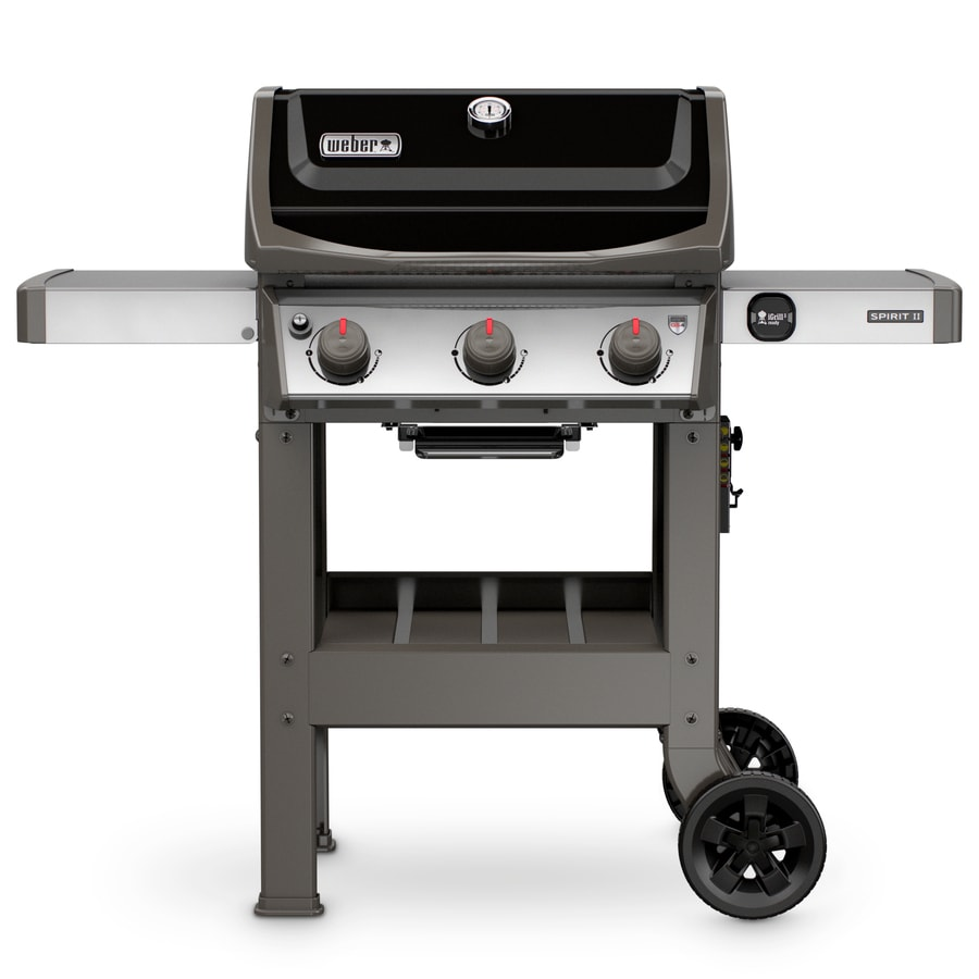 Weber Spirit II E-310 Black 3-Burner Liquid Propane Gas Grill