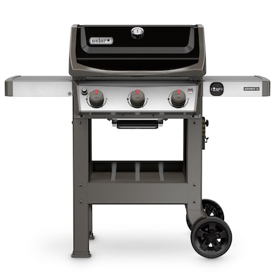 Weber Bbq Side Table.Spirit Ii E 310 Black 3 Burner Liquid Propane Gas Grill