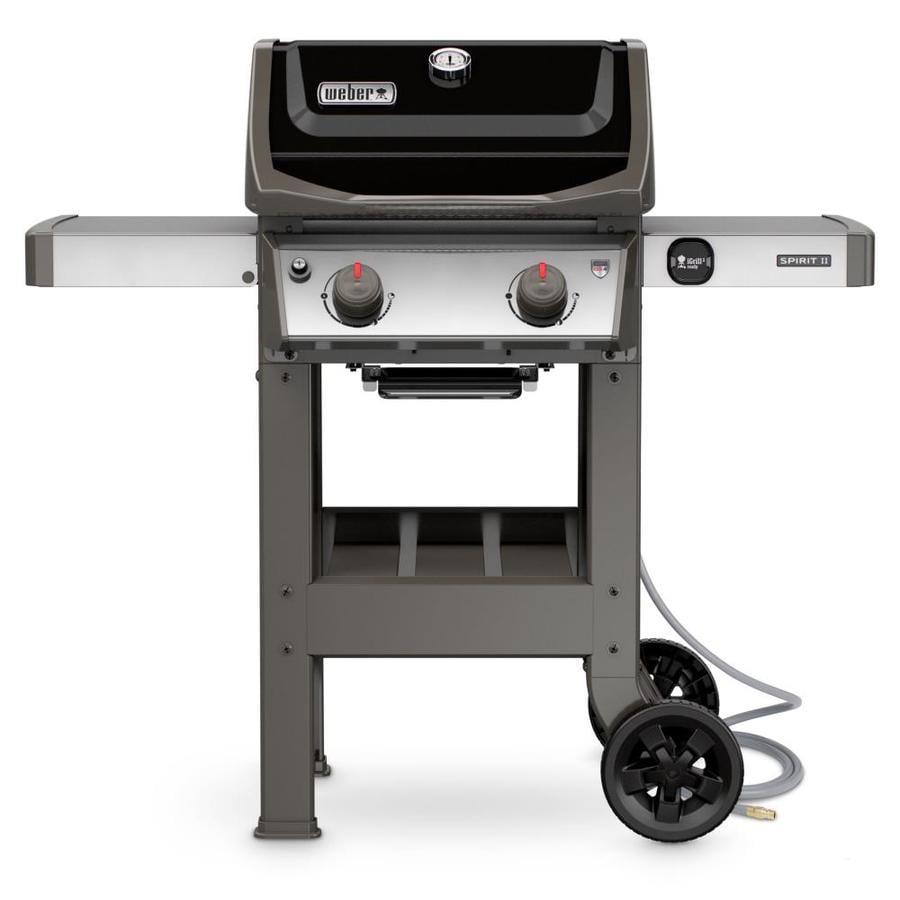 shop weber spirit ii black 2 burner natural gas grill at. Black Bedroom Furniture Sets. Home Design Ideas