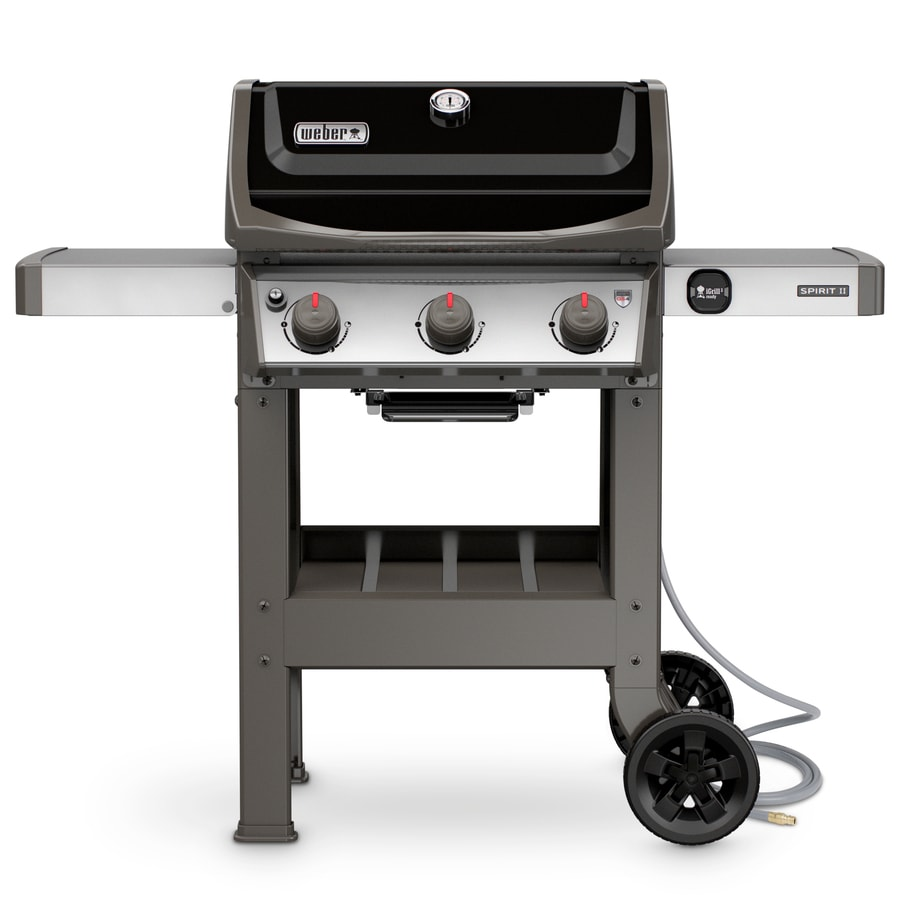 Spirit S   Burner Natural Gas Grill In Black