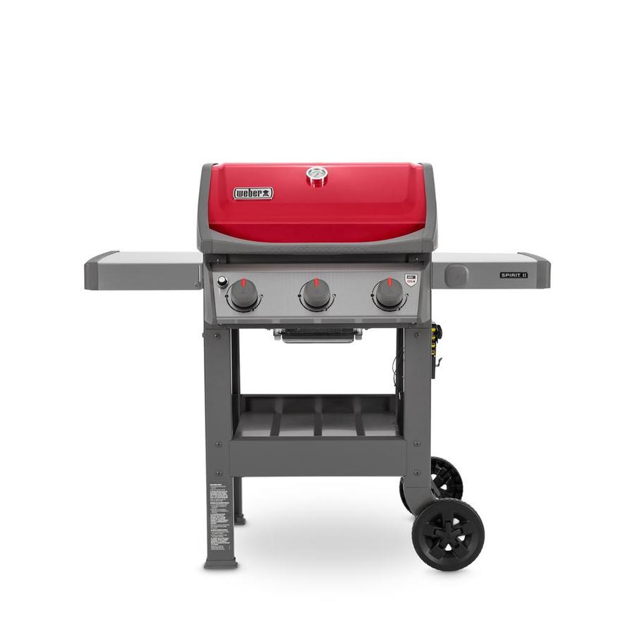 shop weber spirit ii e 310 red 3 burner liquid propane gas grill at. Black Bedroom Furniture Sets. Home Design Ideas