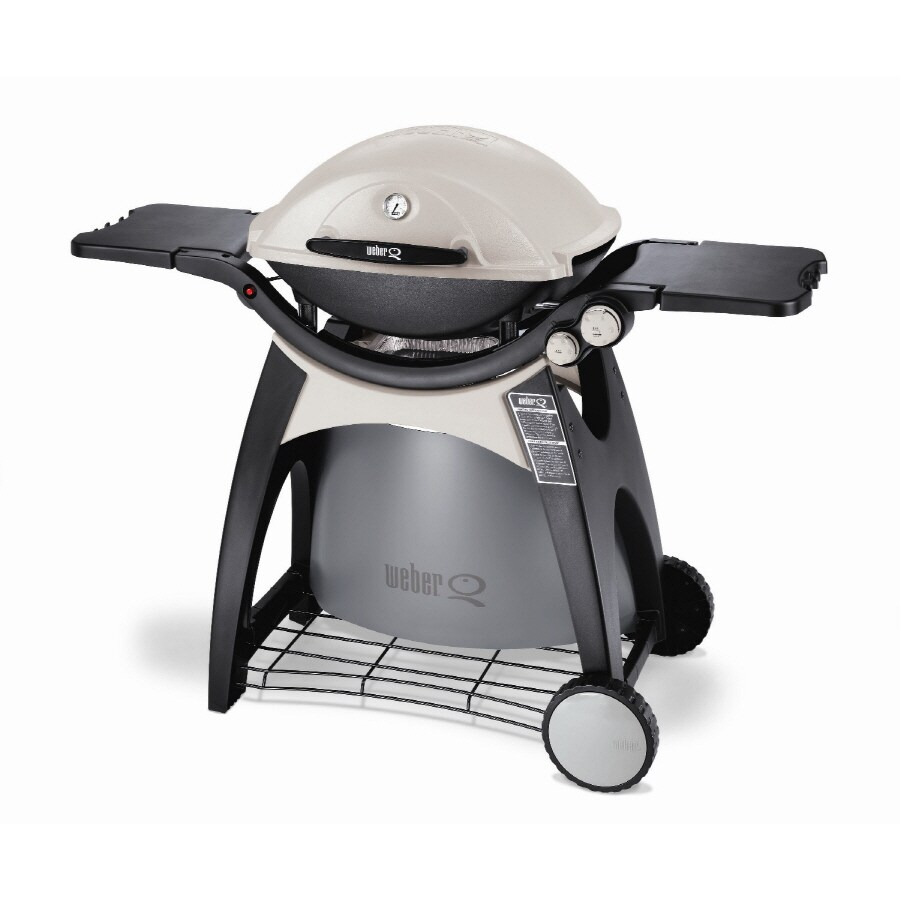 Shop Weber Q Series Titanium 21700 BTU Portable Gas Grill at Lowes.com