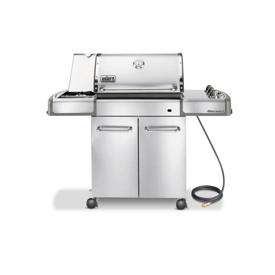 shop weber genesis s 320 3 burner stainless steel natural gas grill at. Black Bedroom Furniture Sets. Home Design Ideas