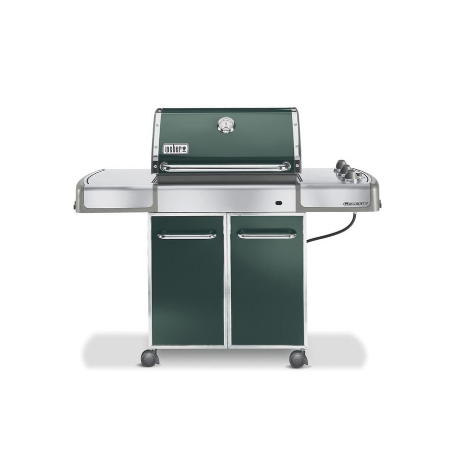 weber genesis e 310 3 burner green gas grill at. Black Bedroom Furniture Sets. Home Design Ideas
