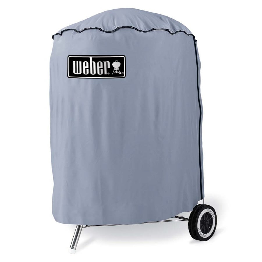 Weber 24-in x 33-in Vinyl Charcoal Kettle Grill Cover