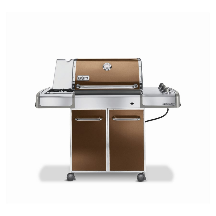 shop weber genesis e 320 3 burner copper gas grill at. Black Bedroom Furniture Sets. Home Design Ideas
