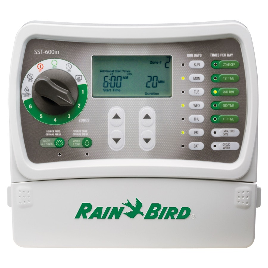 shop rain bird 6 zone simple to set irrigation timer at