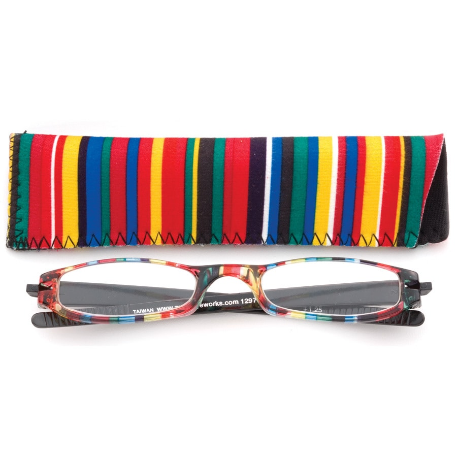 Multicolor 1-1/2x Expressions Reading Glasses