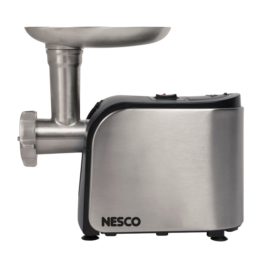 Nesco 1-Speed Stainless Steel Electric Meat Grinder