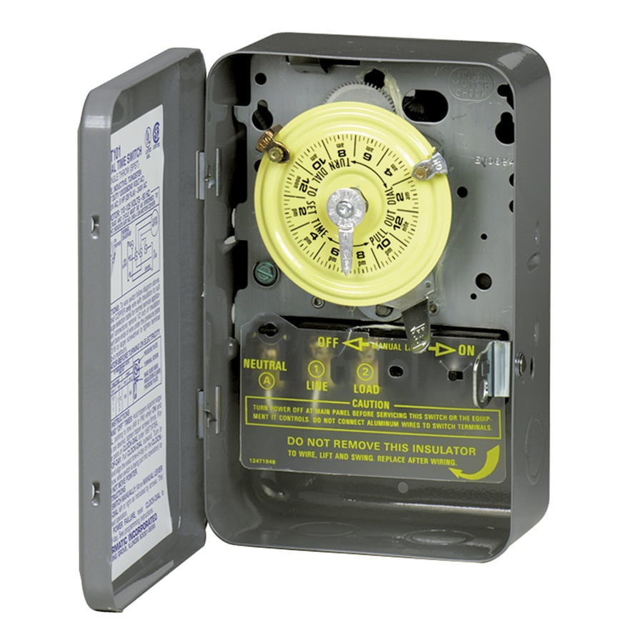 Shop timers light controls at lowes intermatic 40 amp 1 outlet mechanical residential hardwired lighting timer publicscrutiny Image collections