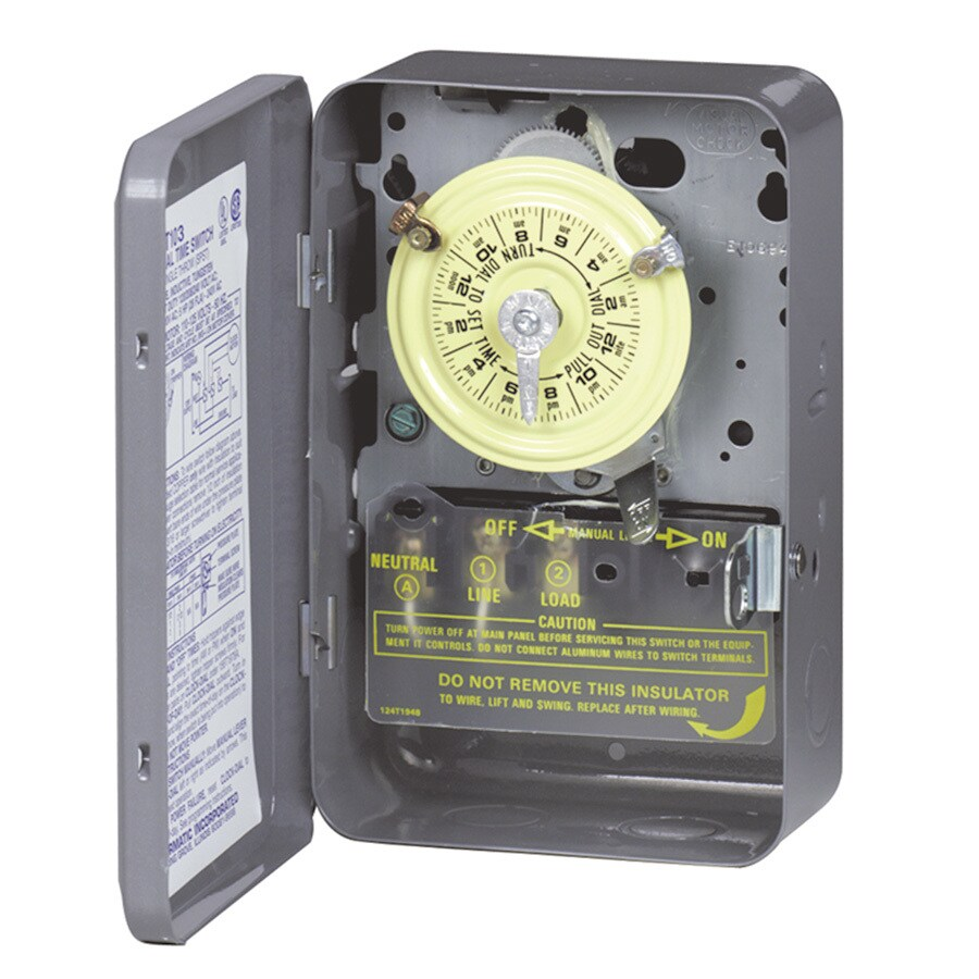 Intermatic 40-Amp Mechanical Residential Hardwired Lighting Timer