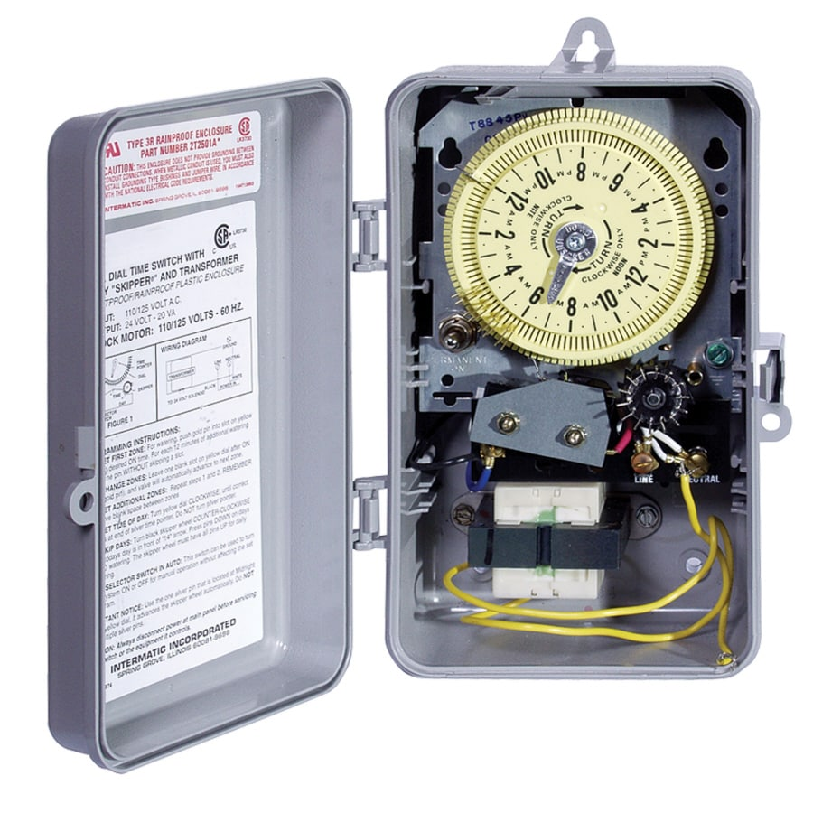 shop intermatic analog irrigation water timer at