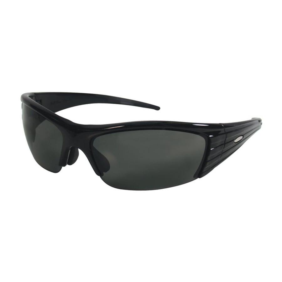 3M Black Frame with Gray Lens Plastic Safety Glasses