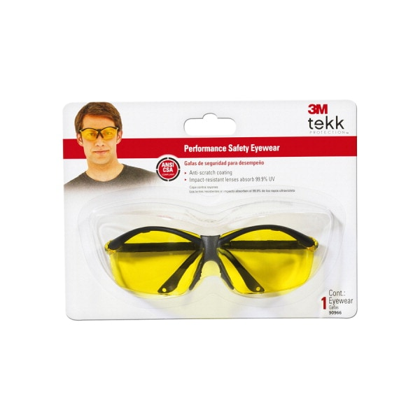 3M Yellow Plastic Safety Glasses