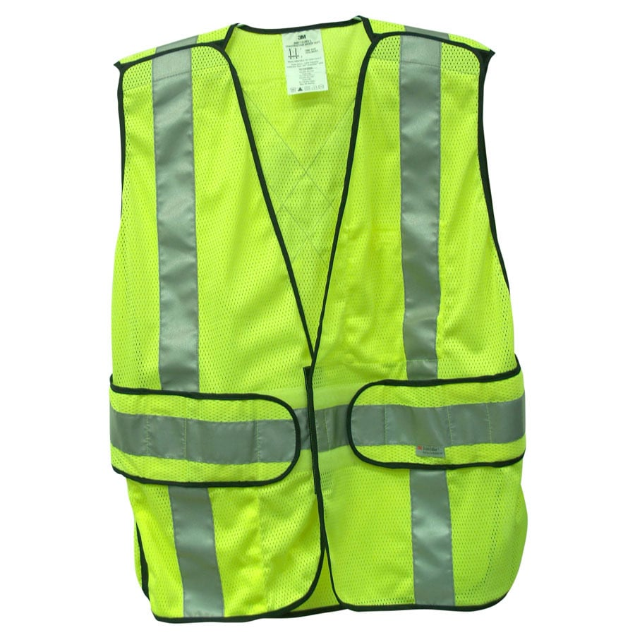 3M Adjustable Yellow Polyester High Visibility Reflective Safety Vest