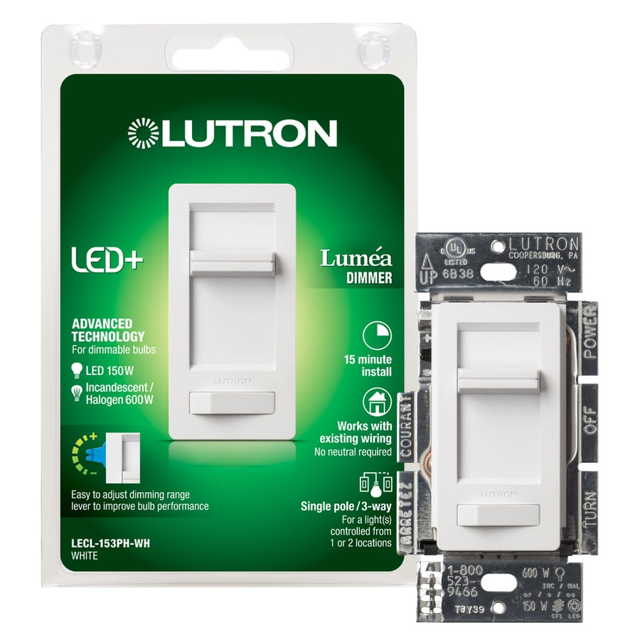 Lutron Lumea 150-Watt Single Pole 3-Way White Indoor Dimmer