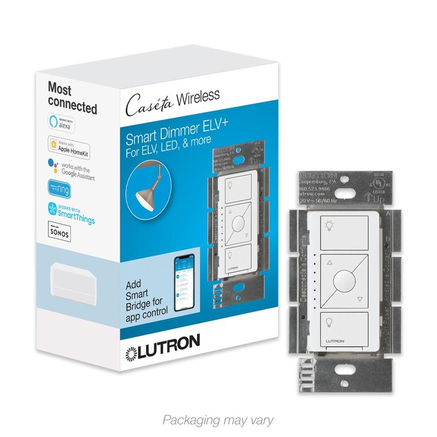 Lutron Caseta Wireless 480-watt Single Pole White  Indoor Dimmer