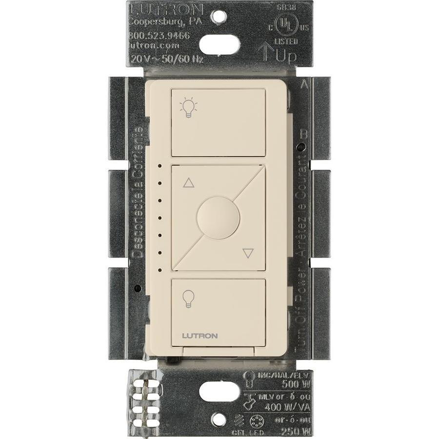 Lutron Caseta Wireless 480-Watt Single Pole Light Almond Indoor Dimmer