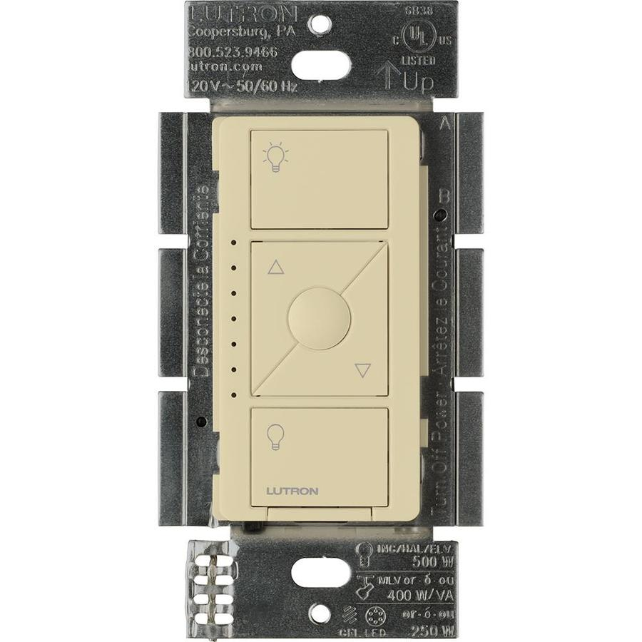 Lutron Caseta Wireless 480-watt Single Pole Ivory Indoor Dimmer