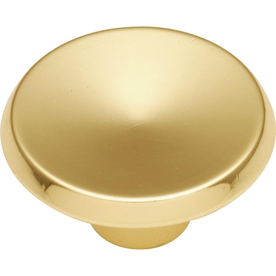 Hickory Hardware Sunnyside Polished Brass Round Cabinet Knob
