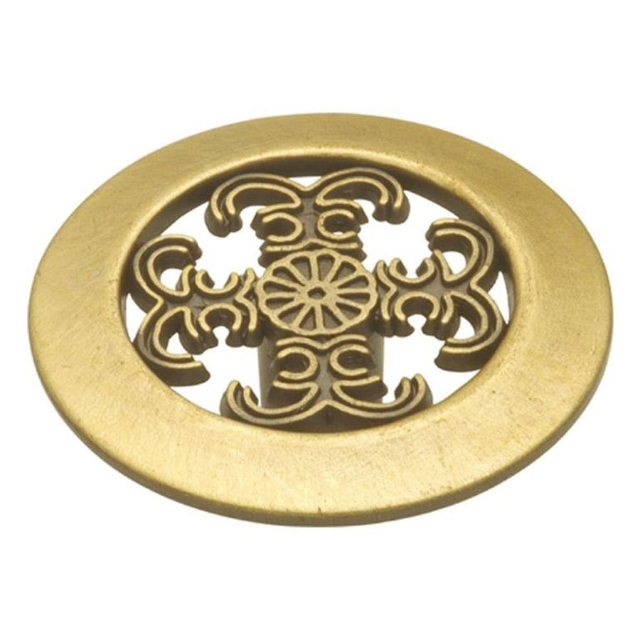 Hickory Hardware Cavalier Antique Brass Round Cabinet Knob