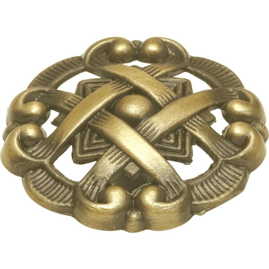 Shop Hickory Hardware Cavalier Antique Brass Round Cabinet