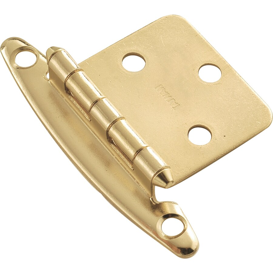 Hickory Hardware 2-Pack 2-3/4-in x 1-7/8-in Polished Brass Flush Cabinet Hinges
