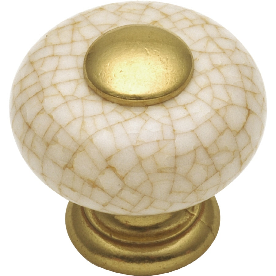 Hickory Hardware Tranquility Vintage-Brown Crackle Mushroom Cabinet Knob