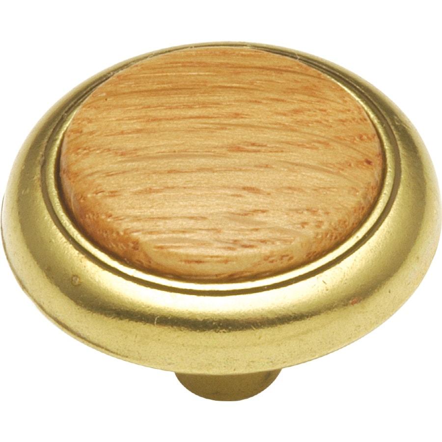 Hickory Hardware Woodgrain Oak Round Cabinet Knob
