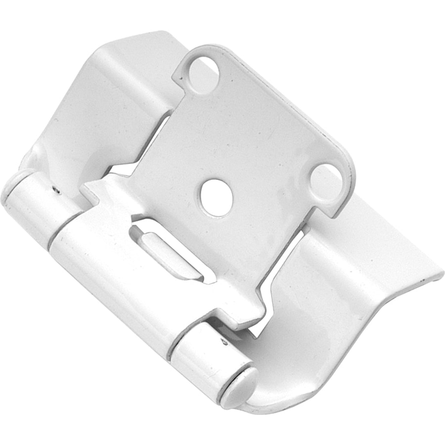 Hickory Hardware 2-Pack 2-1/4-in x 1-3/8-in White Concealed Self-Closing Cabinet Hinges