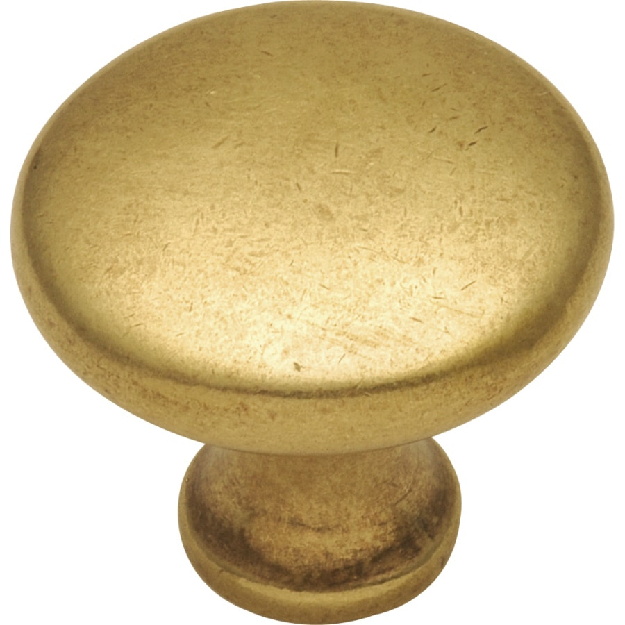 Hickory Hardware Conquest Lustre Brass Round Cabinet Knob
