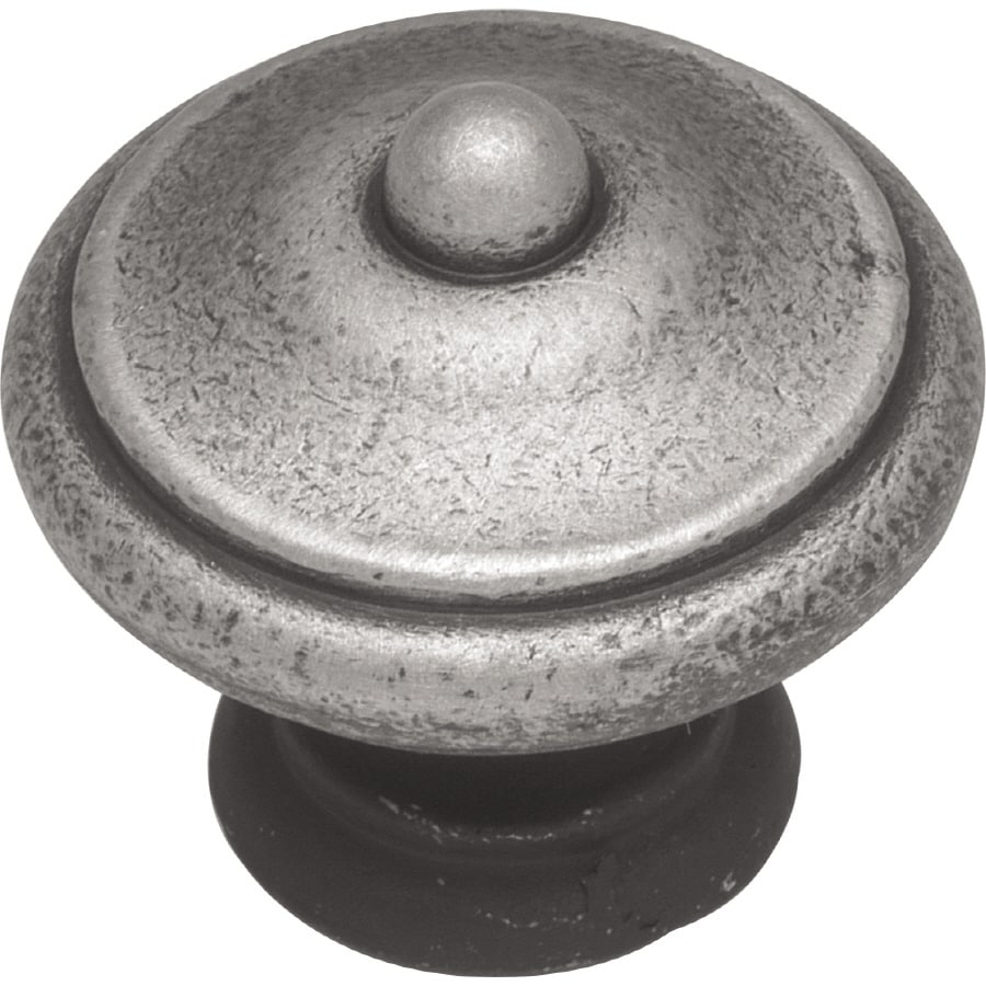 """Hickory P7341-SPA Satin Pewter Antique 1 1//4/"""" Cabinet Knob Pull French Country"""