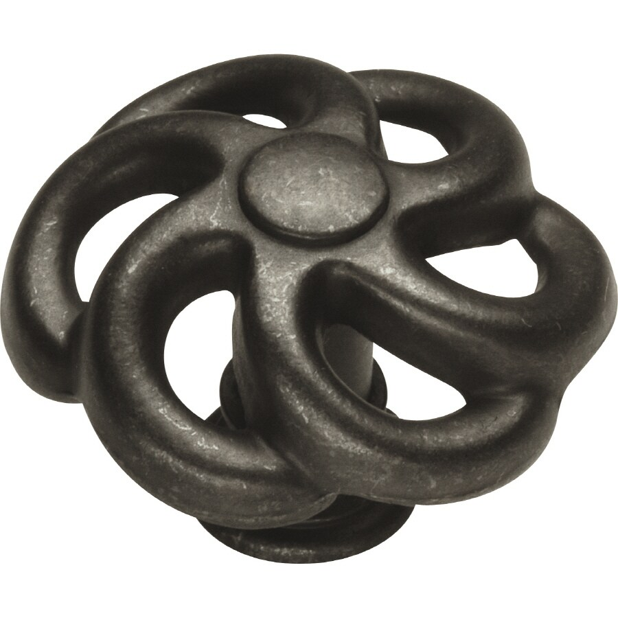 Hickory Hardware Charleston Blacksmith Black Iron Round Cabinet Knob