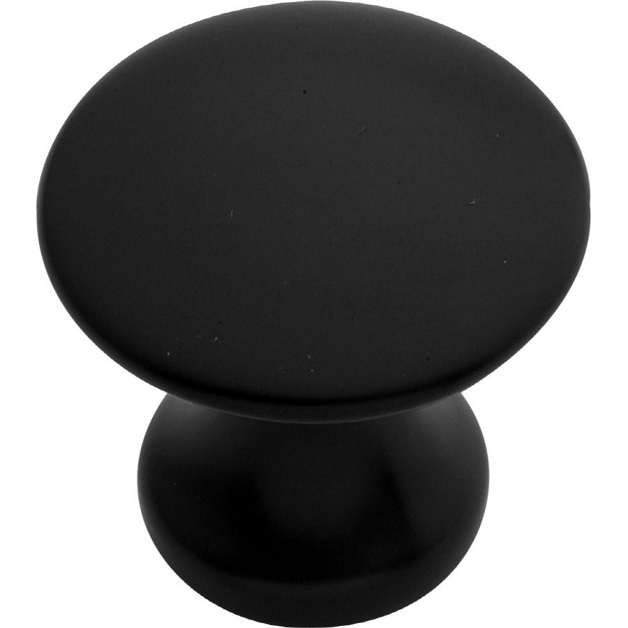 Hickory Hardware Modus Matte Black Round Cabinet Knob